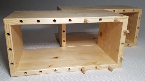 Dřevěné cihly pro stavbu interiérového a exteriérového vybavení