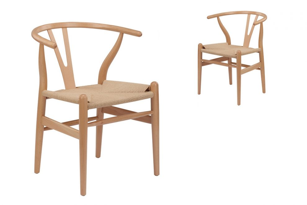 Nejprodávanější model Y chair, design Hans Wegner, 1950, výroba Karl Hansen